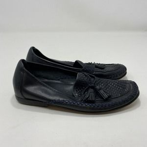 Cole Haan Women's Black Leather Flats Size 7.5